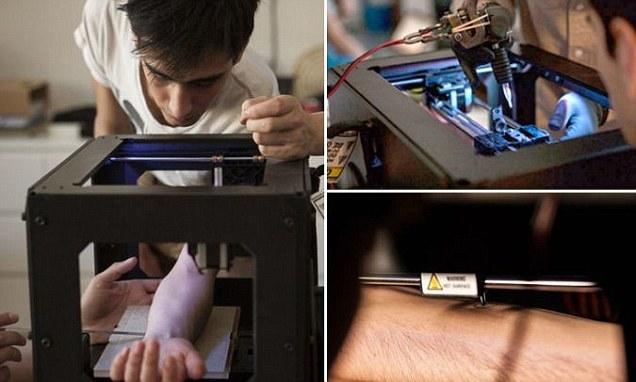 Dövmeleriniz Artık 3D Printer ile Olacak